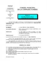 Conseil municipal du 6 février 2017
