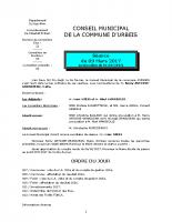 Conseil municipal du 9 mars 2017