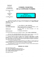 Conseil municipal du 4 avril 2017