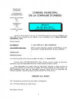 Conseil municipal du 20 juin 2017
