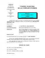 Conseil municipal du 24 octobre 2017