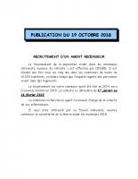 recrutement agent recenseur octobre 2018